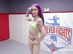 sheena rose battles charlotte sartre in lesbian wrestlingfree full porn