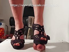 Casey harsh CBT of her slave's cock, natural nails