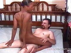Dirty man picks up black girl