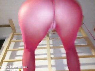 Housewife getting sexy gym horny milf...