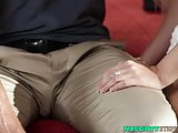 Taboo cock sucking with the gorgeous blonde Alex Grey