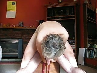 Babe tying my big cock up from behind