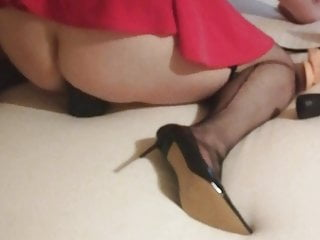 Bbw chastity stretches ass...