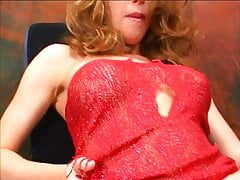 Hot busty babe in red lingerie was balled by horny dude