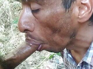 Homeless Man Draining My Uncut Dick