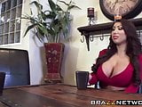 Two busty babes share one lucky dude