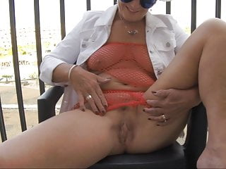 Cumming On The Deck At Cap D And #039; Agde