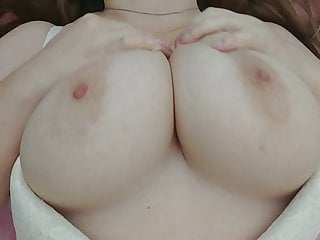 Sexy girl touch their big natural tits