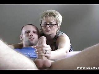 Pov up stroking his...