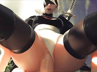 NieR - Vaginal Sex 2B - Hentai Automata with sound