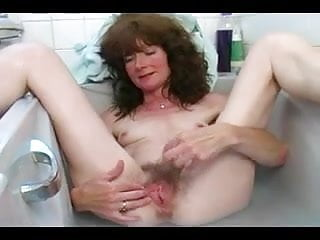 Fingering pussy bath...