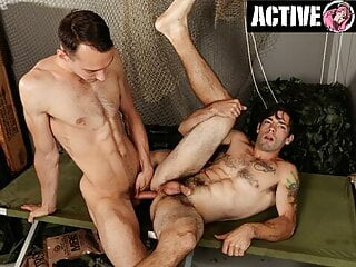 ActiveDuty – SGT Shows Newbie How To Take A Big Dick.
