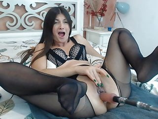 - Pantyhose Machinefuck in Heels and Carla