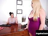 BBW Attorney Angelina Castro Strap-On Bangs Karen Fisher!