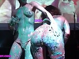 Audra and Cookie cake Sploshing live at Lingerieve