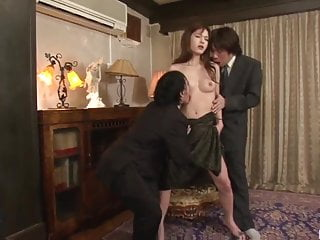 Mei Haruka enjoys office sex movie with two sexual men