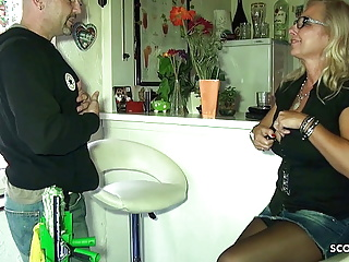 Immense Knockers German Hot mom Pay The Window Cleaner with Intercourse