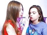 hot lesbians kissing