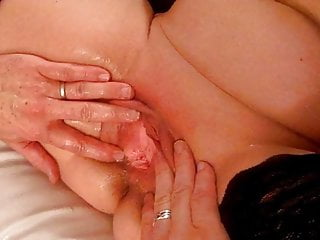 Lisa blue and squirts of black lovers...