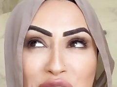Lebanese barbie bimbo in a hijab