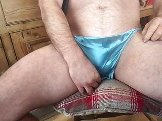 Panty in satin panties...