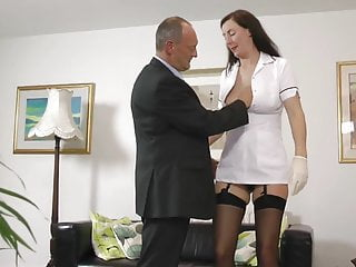 Nurse seduces lucky british senior...