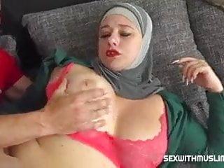Ass Arabian lover tries a shaft cigarette
