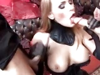 British slut Tanya gets fucked in a kinky FMM threesome