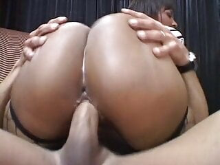 Adorable babes with big boobs sharing a stiff cock in a threesome