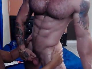 Two Muscle Guys Worship