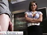 Naughty America Krissy Lynn finds out how student's cock is