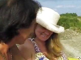 Sexy big hit her beach...