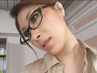 Asian teacher strapon censored...