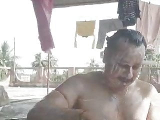 Indian muscle bisexual married man body show...