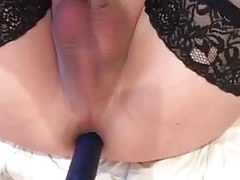 27 inches extreme long dildo in butt