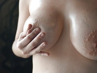 Oiled up tits
