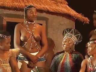 Topless african tells some story...