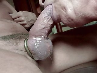 Slave masked daddy sucking master's cock
