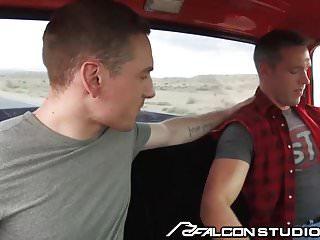Cute college boy blows alex mecum in pickup...
