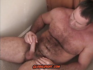 jackingoff Bedroom Dick Muscledaddy Stroking Brawny Floor
