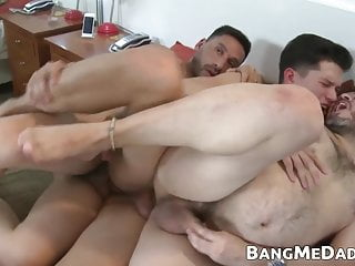 daddies holes two spitroast by barebacked latino Young