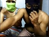Desi couple Live cuckold session with Bull Part 1