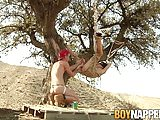 Charley Cole has fun with his slave Cairo Jordan outdoors