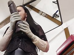 Teaster - Giant Dildo play with Mistress Luciana