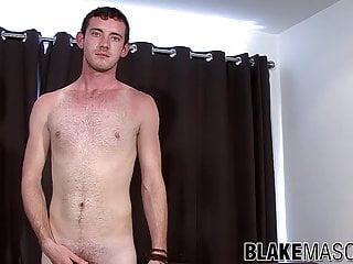 Twink with blue eyes masturbates...
