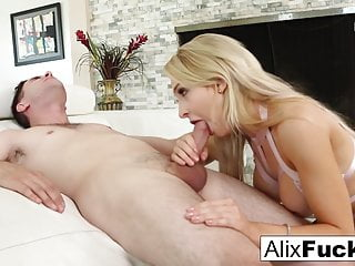 Sexy Kitten Alix Lynx spreads herself for a throbbing cock