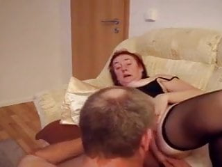 Mature couple – she's sexy and hot in stockings