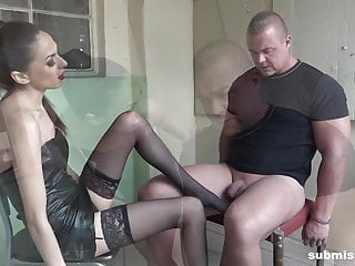 Bound Man Submissed By European Domina Great Femdom