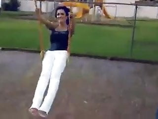 Denise Milani Hot on Swing - non nude