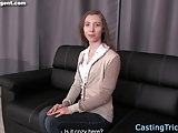 Doggystyled euro newbie banged at casting